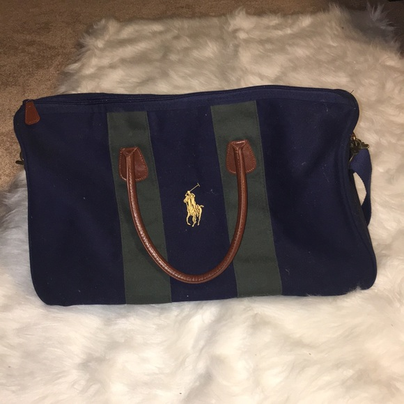 ba09ea39f2fd Polo Navy   Green Duffle. M 5c661ed42beb7950d4ea692c. Other Bags you may  like. Vtg Ralph Lauren ...